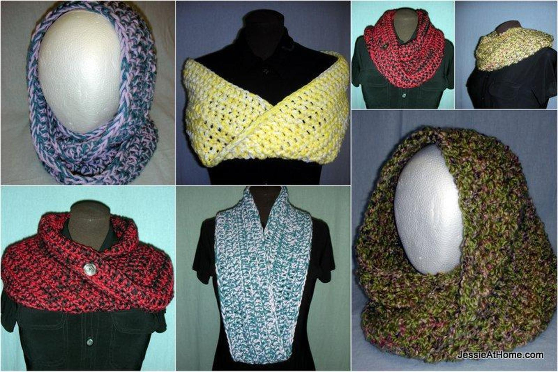 mobius cowl free crochet pattern