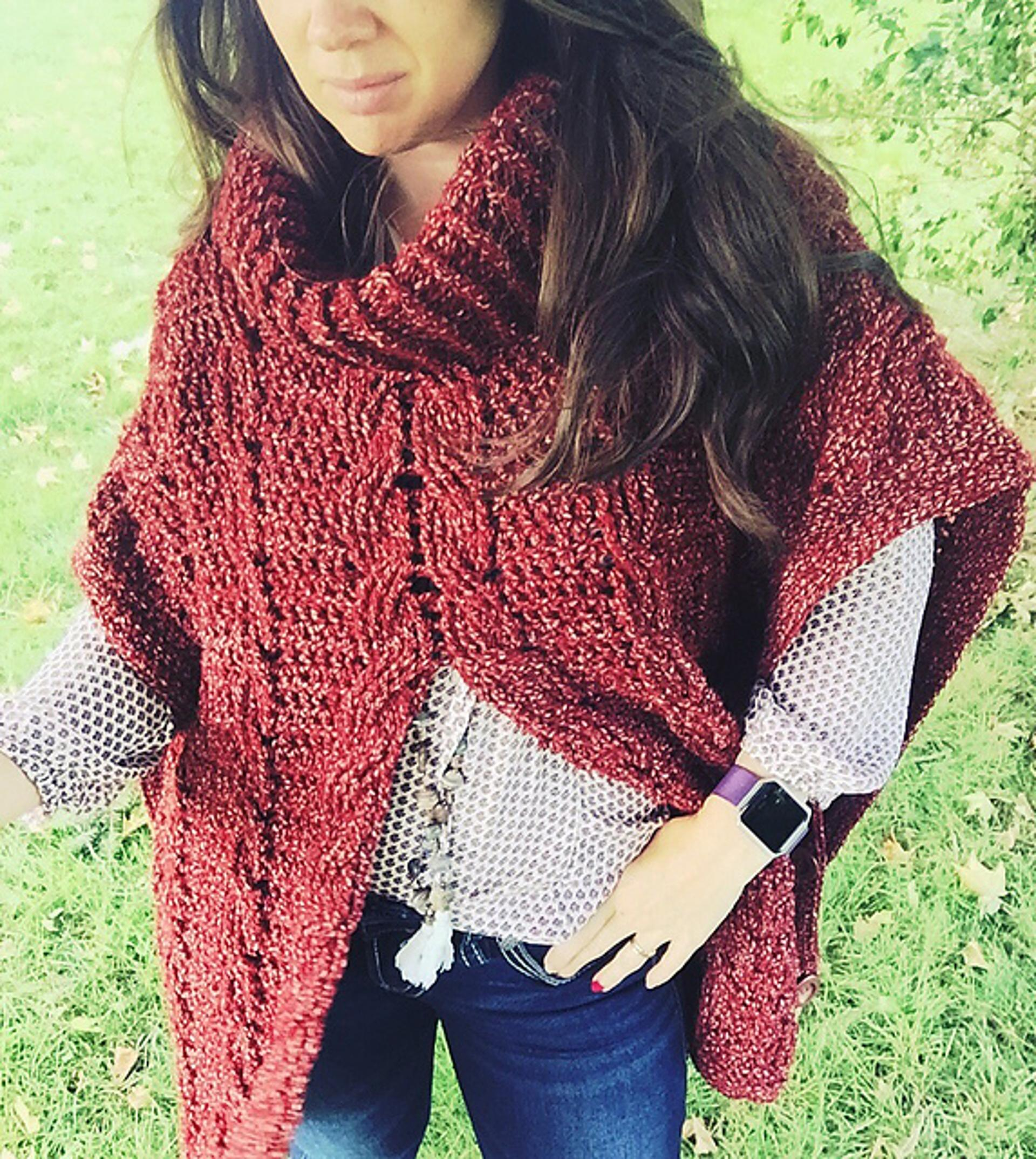 cabled poncho crochet pattern