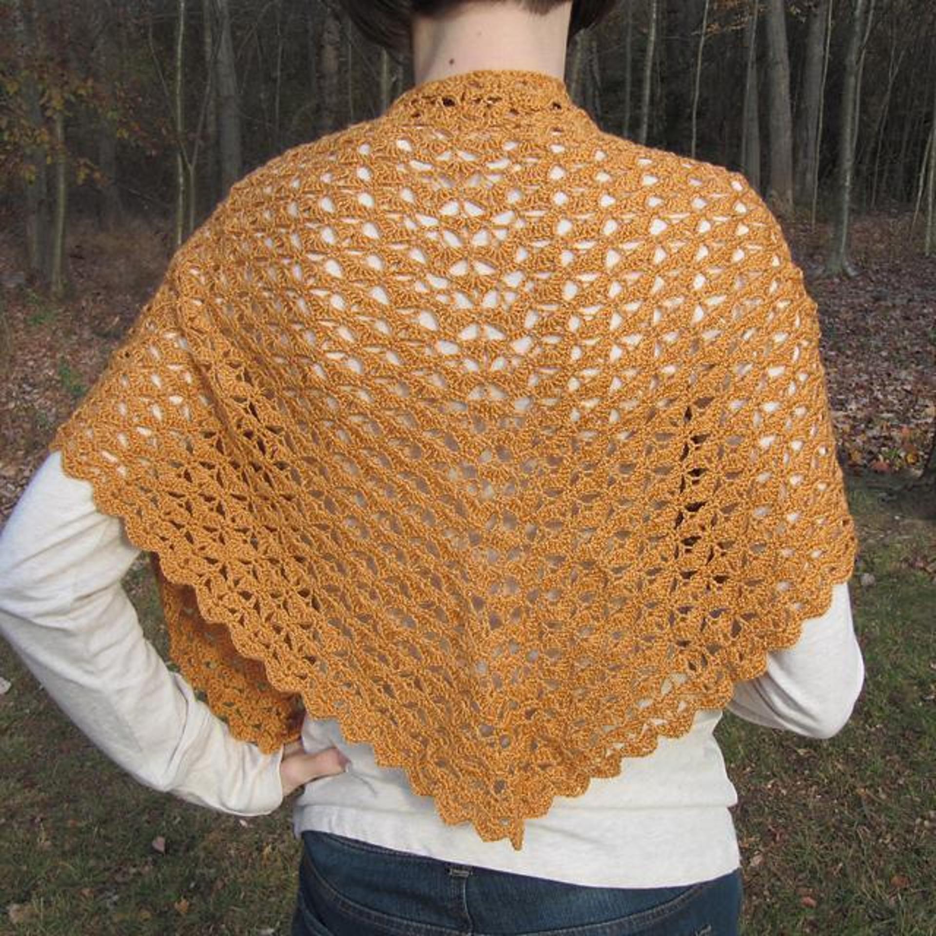 autumn leaves shawlette crochet pattern