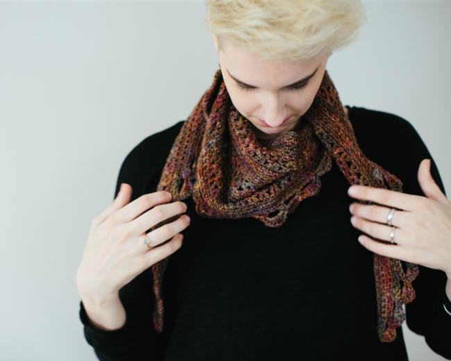 autumn paradox crochet scarf pattern