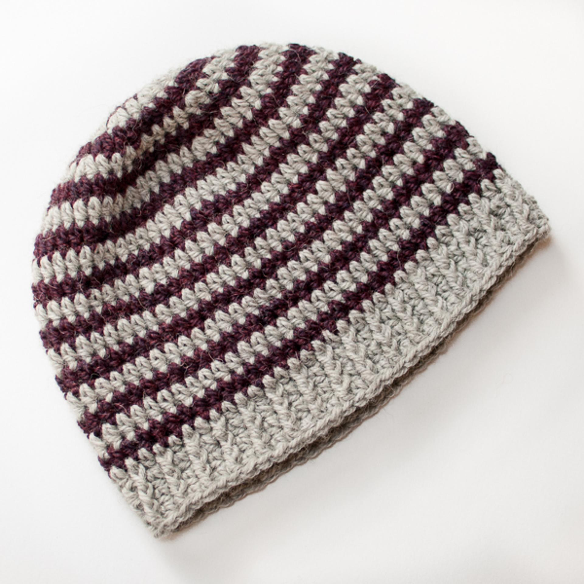 basic striped hat crochet pattern
