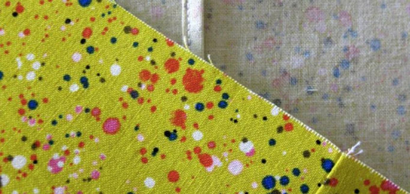 fabric ready for a seam
