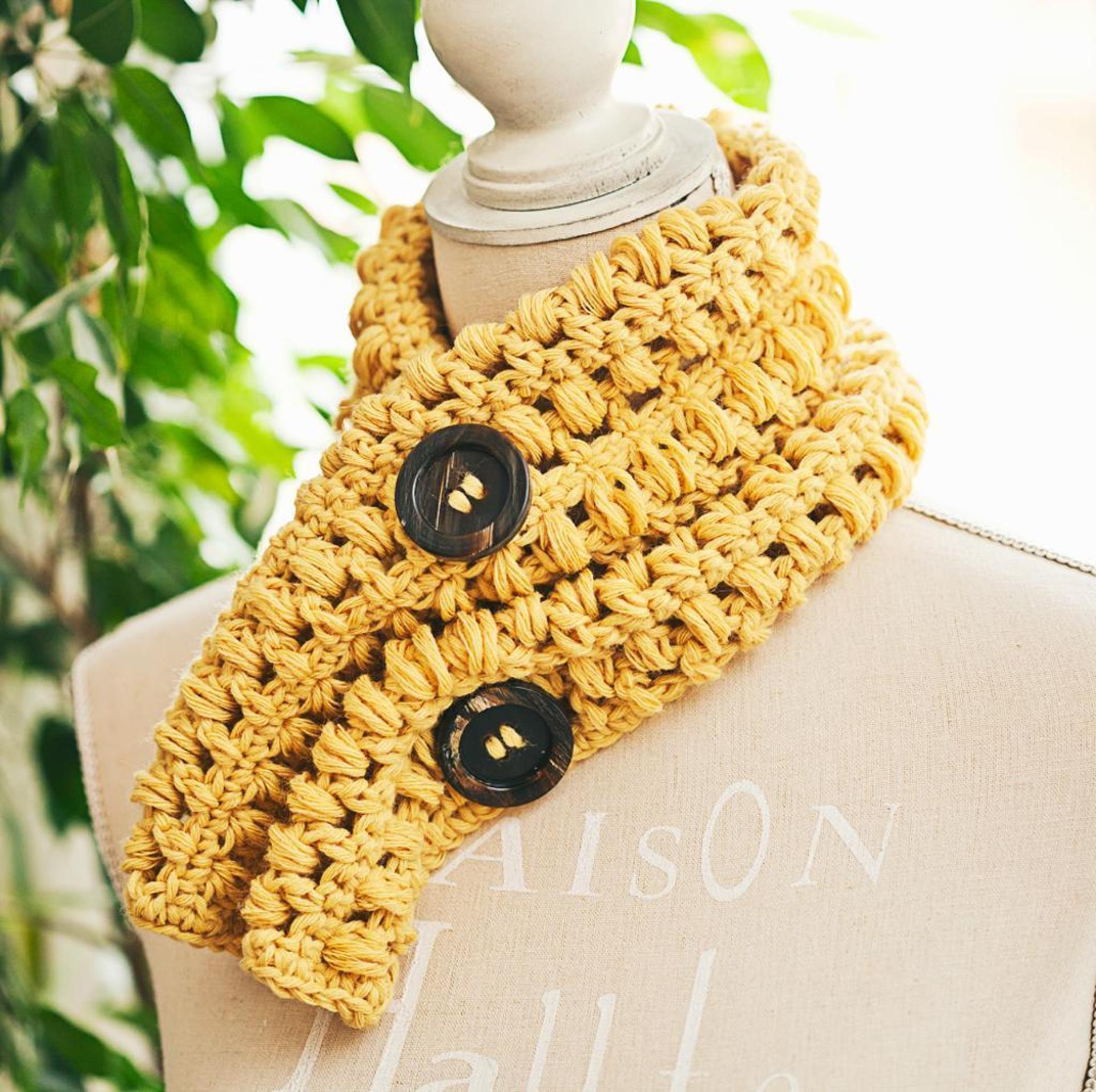 bobble cowl free crochet pattern