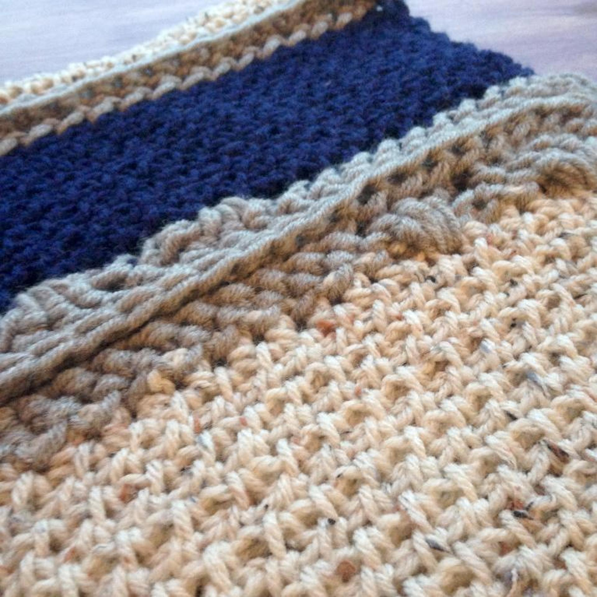 colour block cowl free crochet pattern