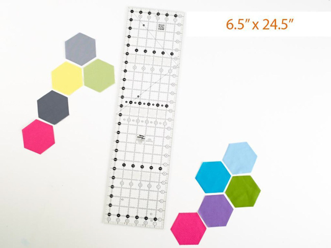 creative grids 6.5in x 24.5in quilt ruler