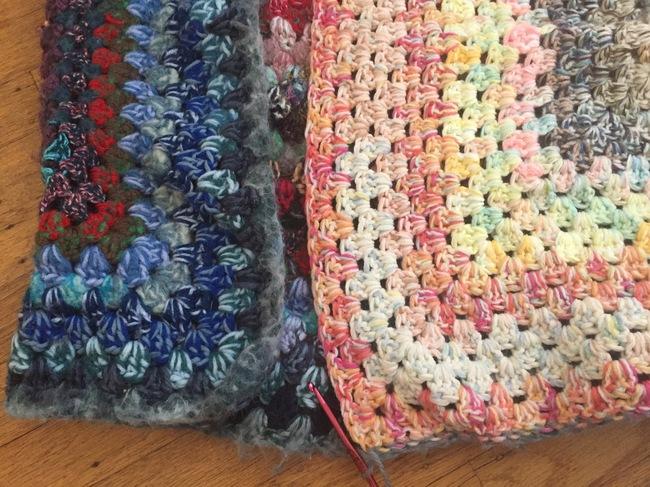 crochet granny square pouf 5