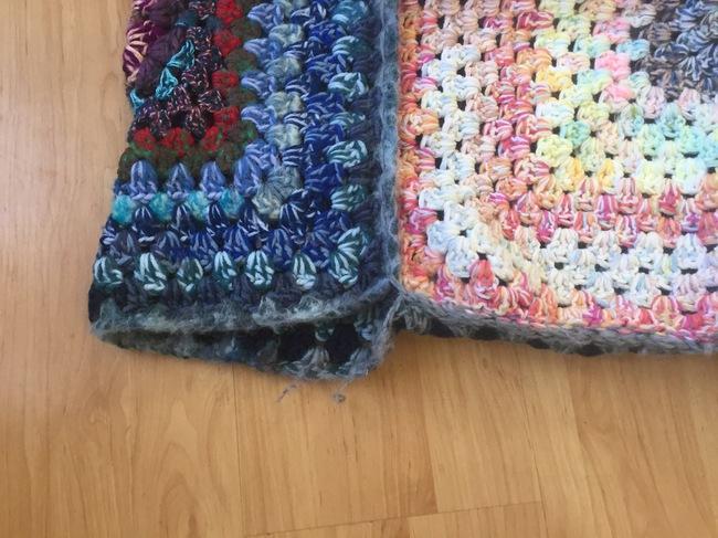 crochet granny square pouf 7
