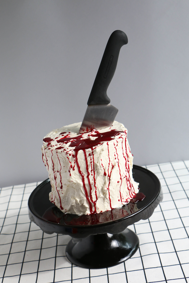Cake with Edible Fake Blood | Erin Gardner