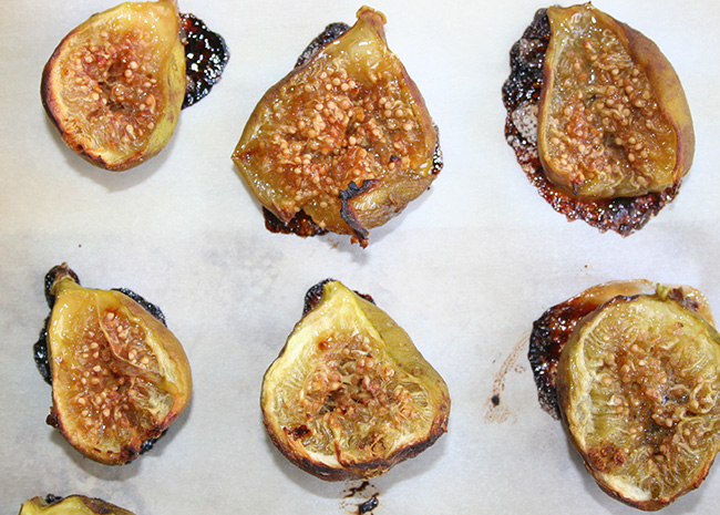 Broiled figs
