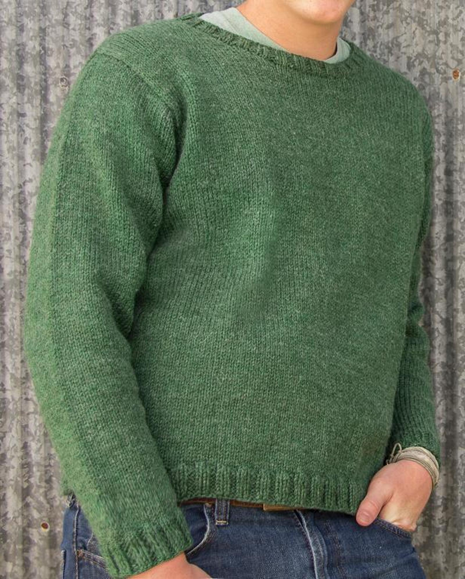 Glasgow Top Down Pullover Knitting Pattern