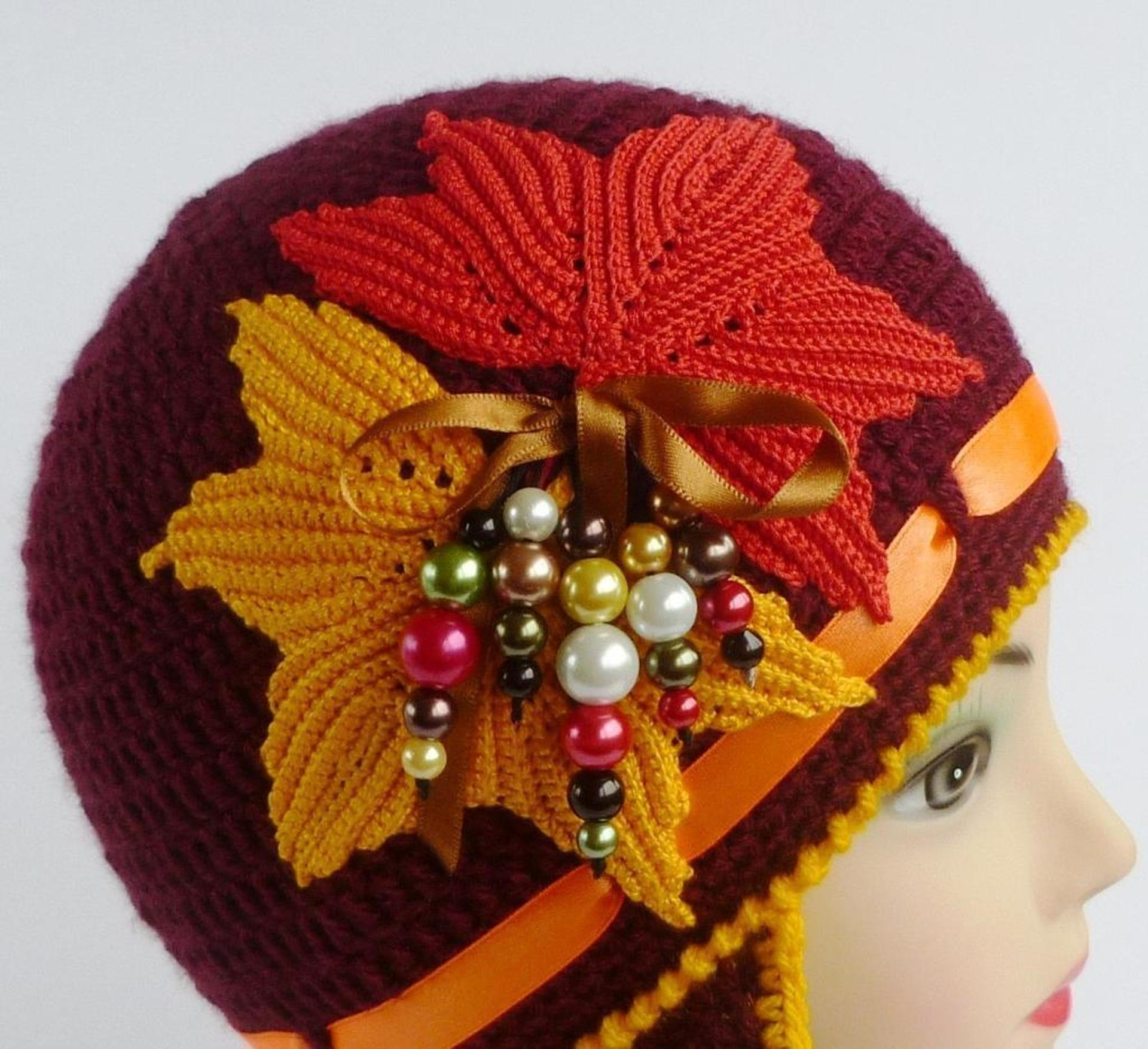 golden autumn crochet hat free pattern