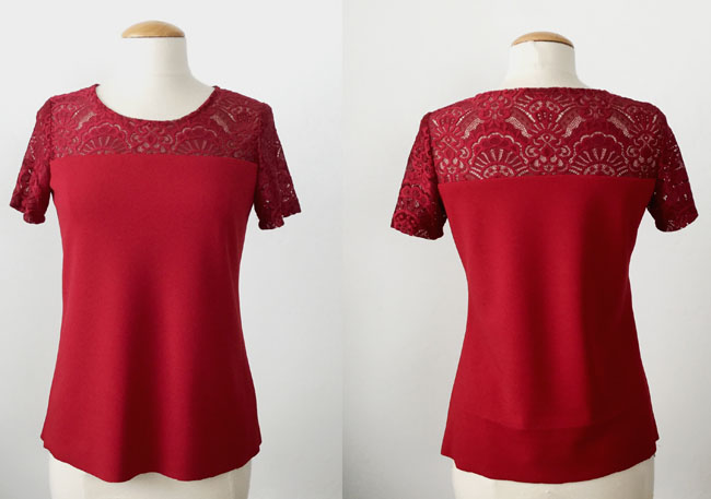 lace top front and back