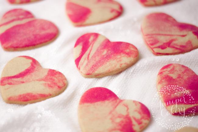 Marbled cookie tutorial by Juniper Cakery