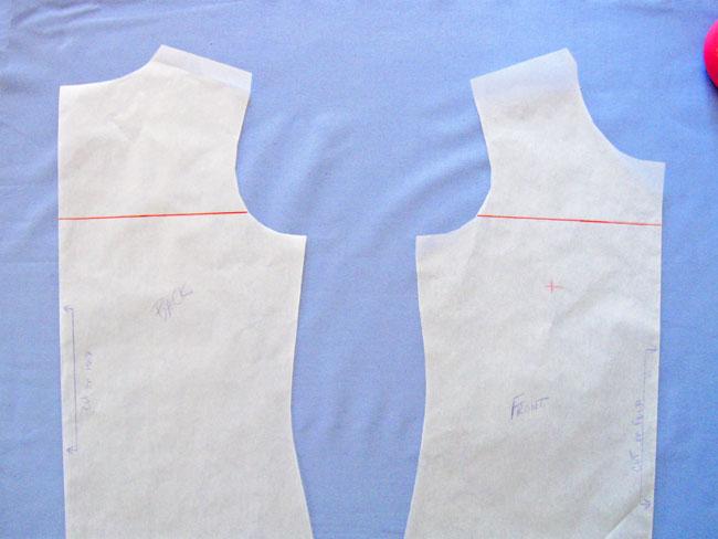 mark line for pattern split