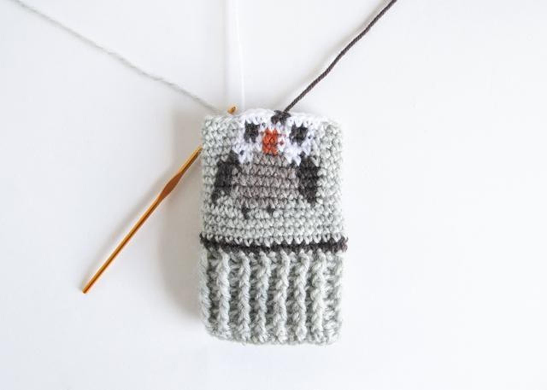 owl fair isle tapestry crochet mitts pattern