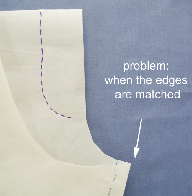 pants seam matched incorrectly