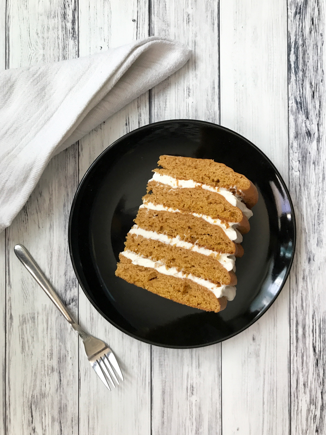 pumpkin spice cookie cake slice