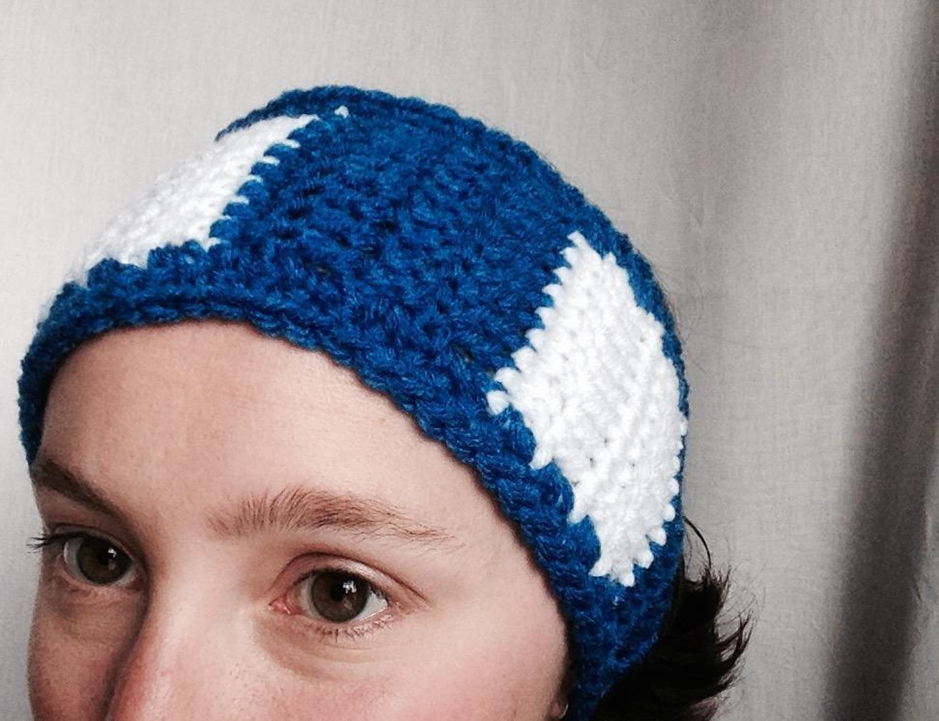 school spirit ear warmer crochet pattern