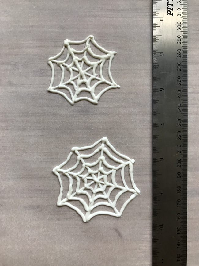 spider webs made of candy coating
