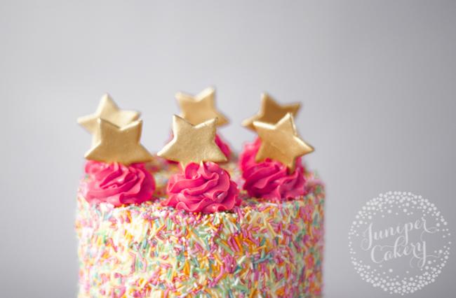 How to add sprinkles onto a cake