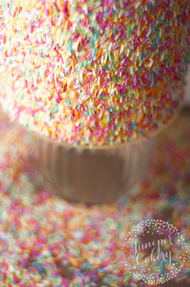 Learn how to add sprinkles to a cake