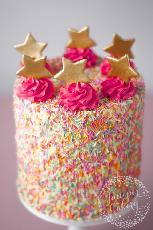 Cute sprinkle cake tutorial