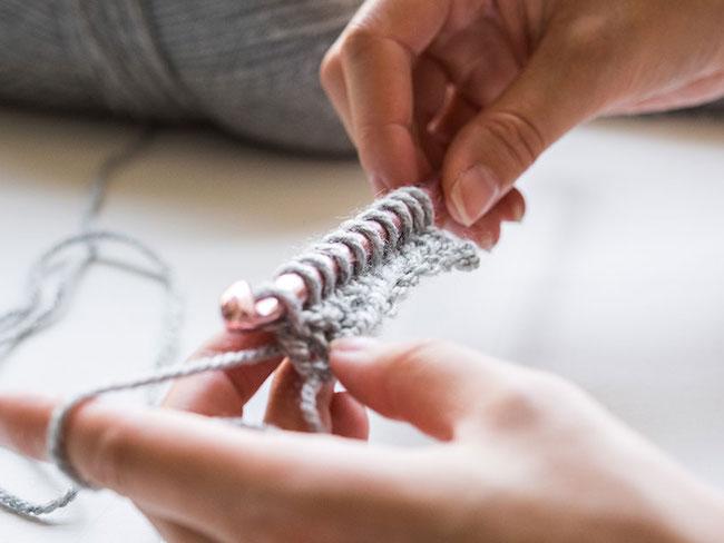 Stitches on Tunisian Crochet hook