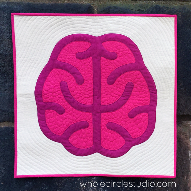 Think Big! mini quilt by Sheri Cifaldi-Morrill | Whole Circle Studio. Applique quilt pattern.