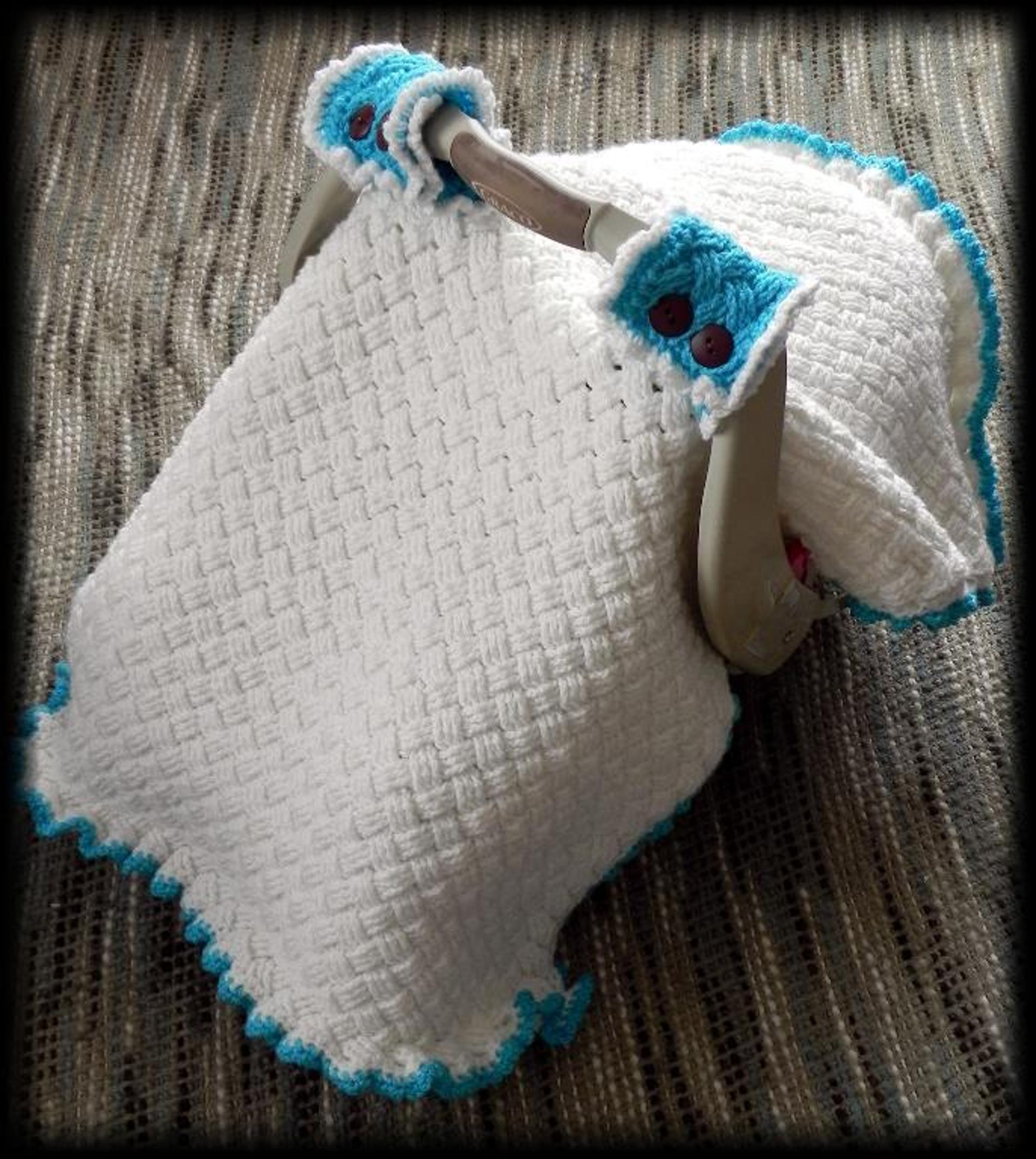 woven car seat canopy crochet pattern