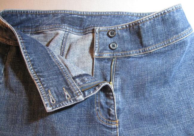 original zipper in jeans