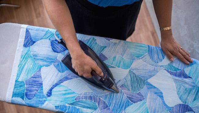 Ironing Blue Printed Fabric