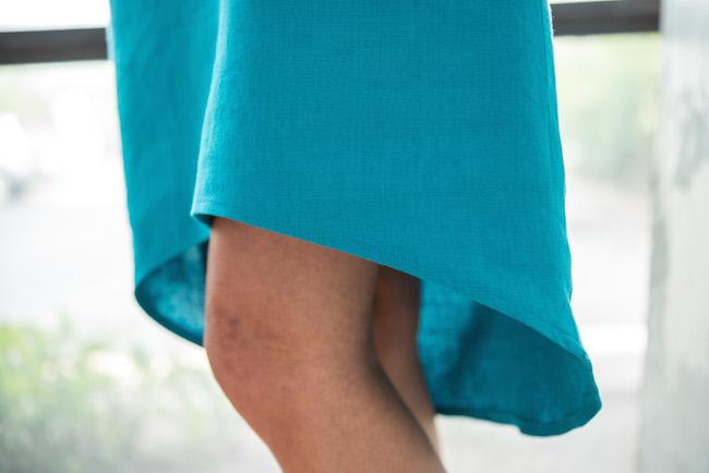 Hem on Blue Dress