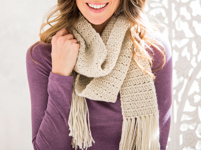 Easy Worsted Scarf or Cowl Crochet Kit