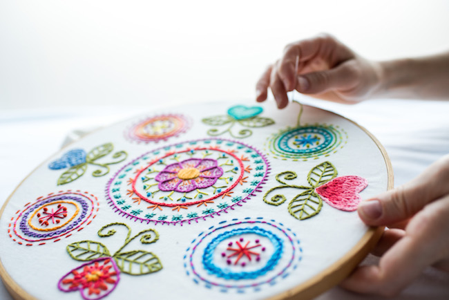 Colorful Hand Embroidery