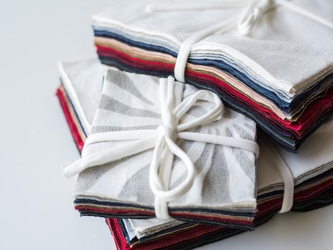 Stacks of Organic Fabric