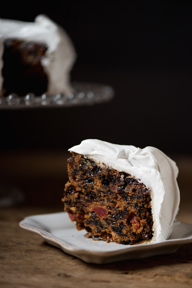 Frosted English Christmas Cake