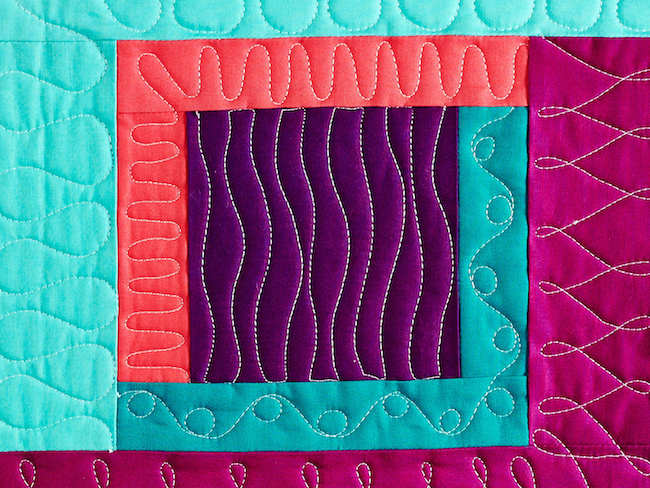 Square Quilted with Waves