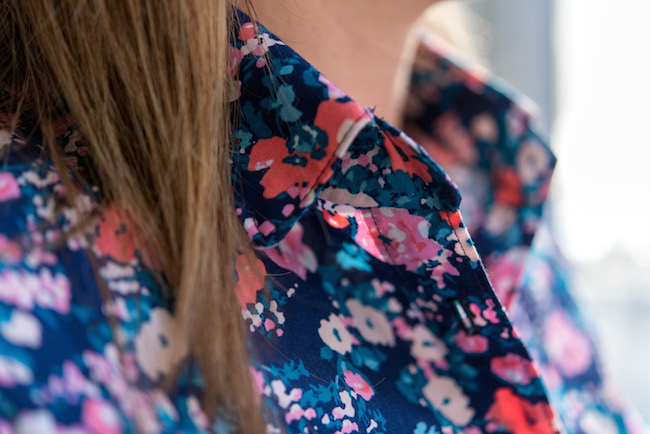 Blouse Collar in Chelsea Rose Fabric