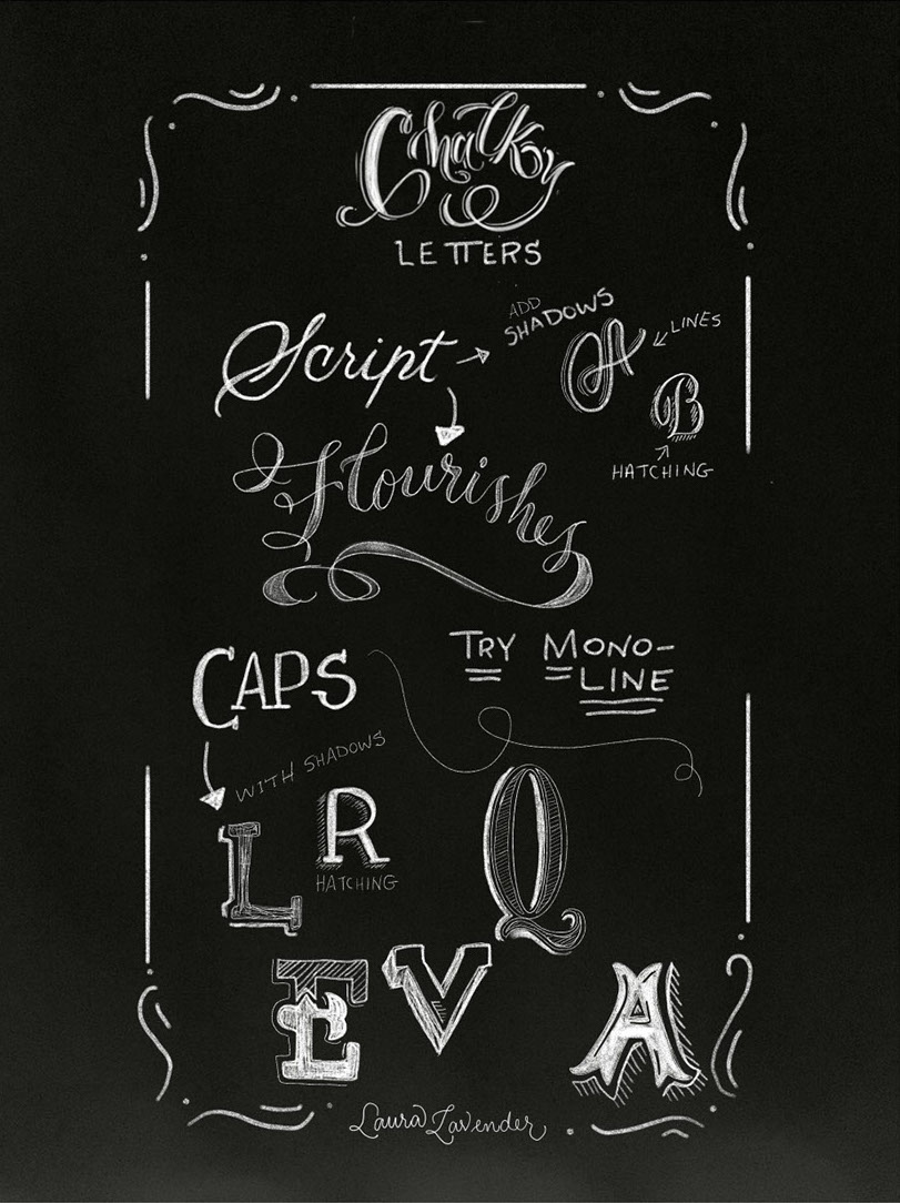 Chalk Letter styles