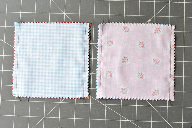 Charm Square Sewn Together on Two Sides