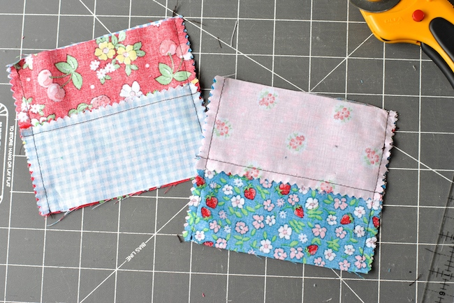 Sewing Four-Patch Quilt Blocks