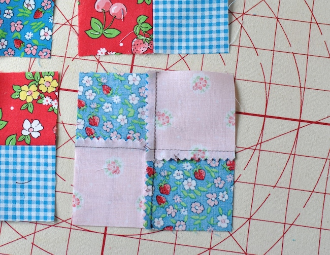 Wrong Side of a Four-Patch Quilt Block