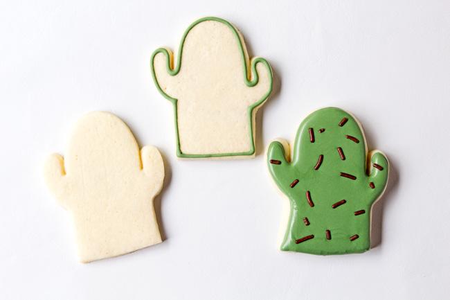 Easy Cactus Cookies
