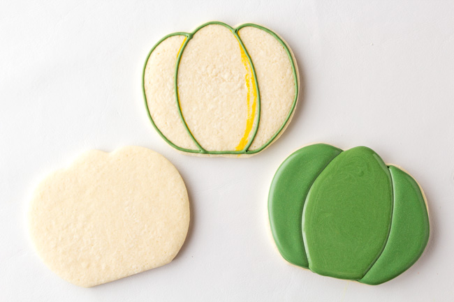 How to Make Cactus Cookies with a Pumpkin Cookie Cutter