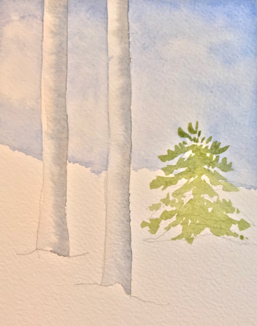 Lighter green for base layer of pine tree.