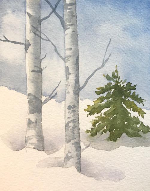 A few extra dark shadows on the pine tree.