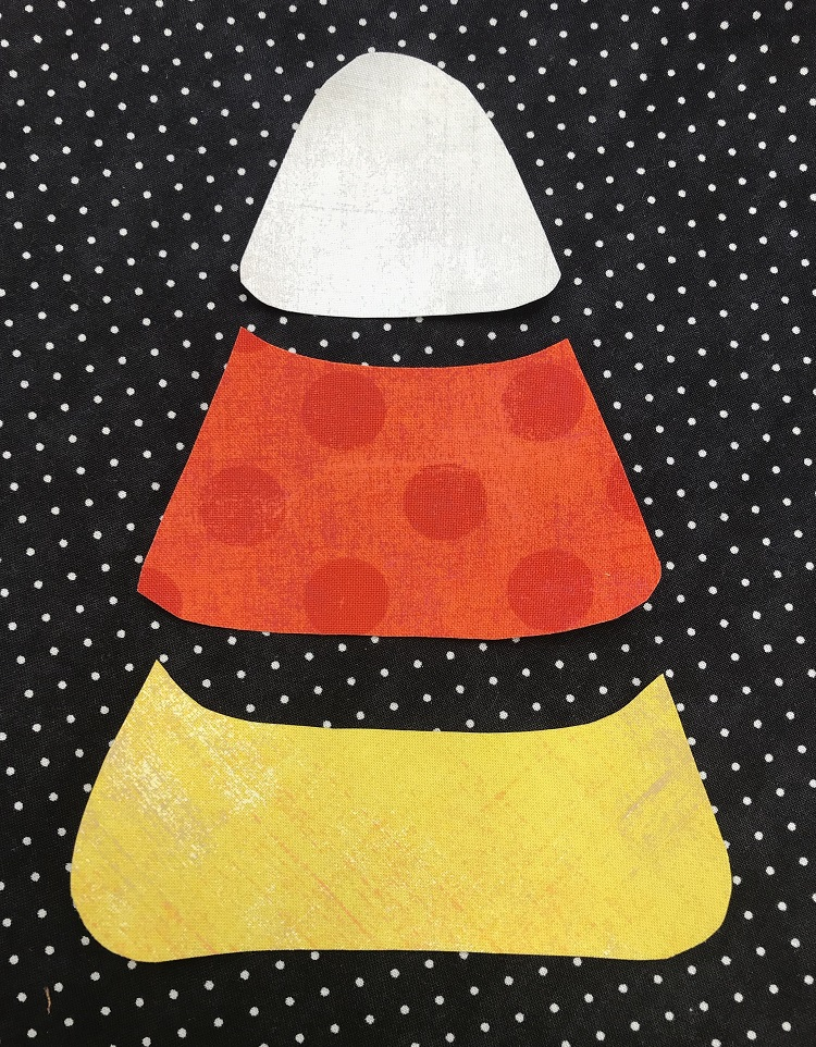 candy corn fabric pieces