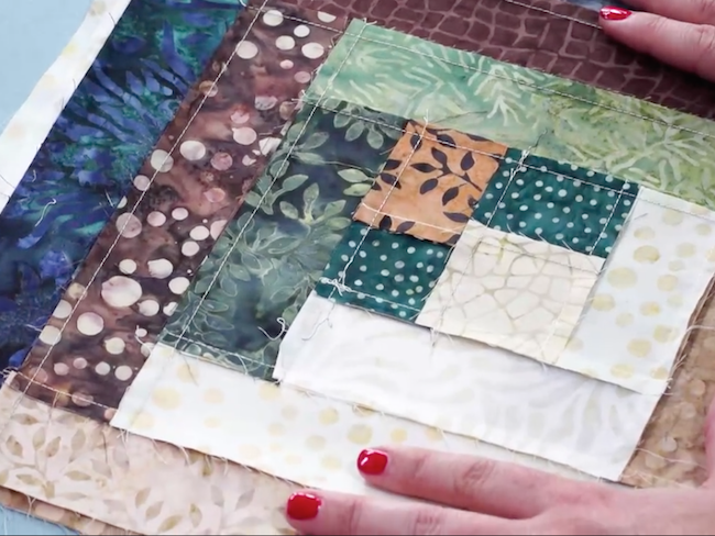 Flat Seams on Back of Quilt Block