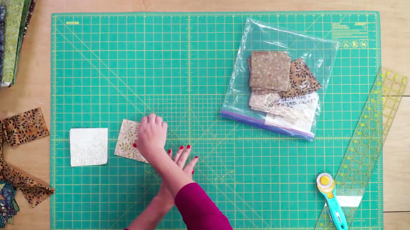 Putting Quilt Fabric in a Ziplock Bag