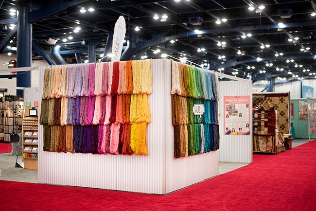 Aurifil Thread booth at Quilt Market 2016